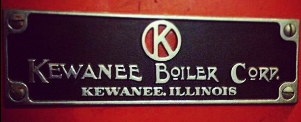 Kewanne boiler Old badge