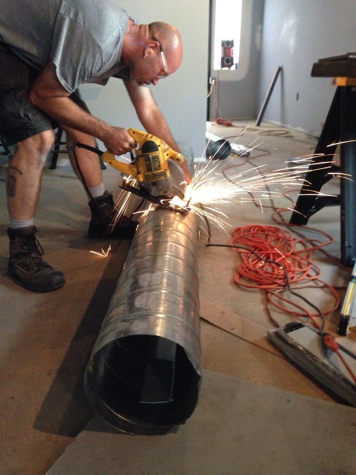 How Do You Cut Spiral Duct