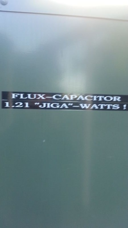 there is the flux capacitor…..
