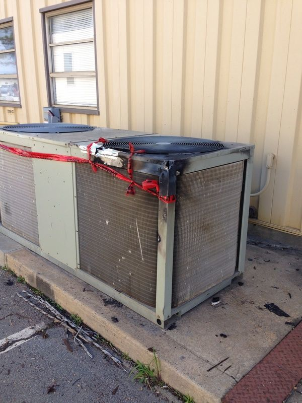 12kv Power Line On A Trane Condenser
