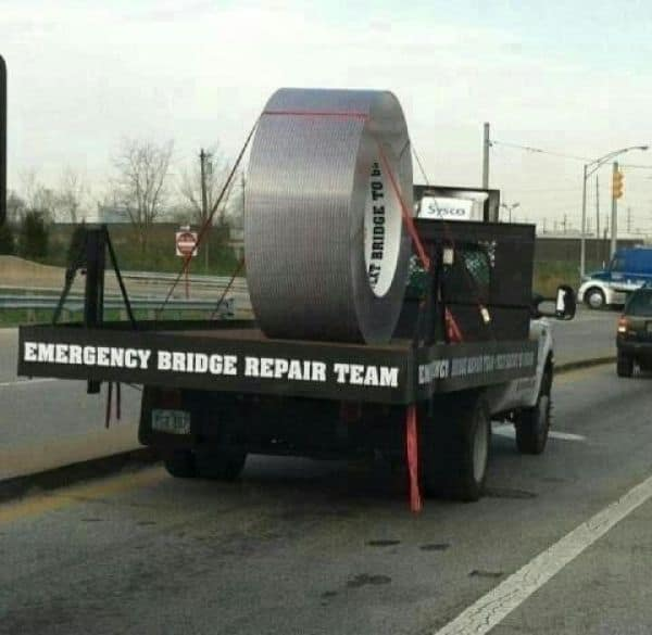 Speaking of duct tape!