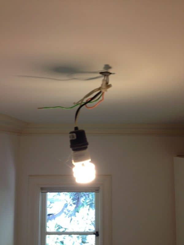 Electrical hack in a kids bedroom closet